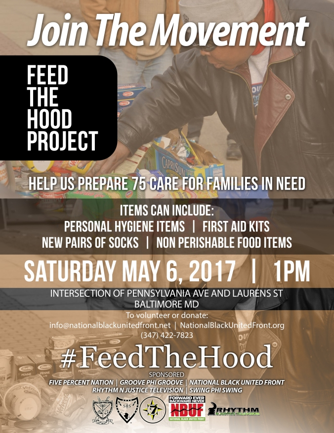 Feed the Hood Baltimore May 2017